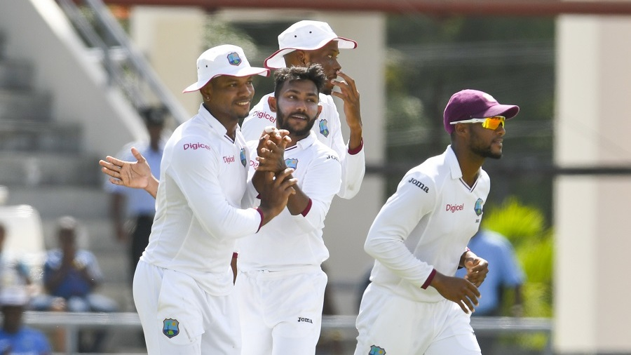 Bishoo five-for gives WI valuable lead of 60