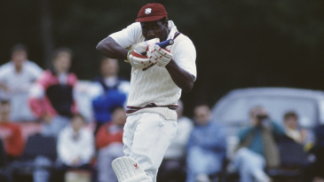 Viv Richards unfurls the machine-gun celebration