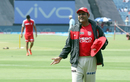 Kings XI Punjab head coach Virender Sehwag reacts in the field, Rising Pune Supergiant v Kings XI Punjab, IPL 2017, Pune, May 14, 2017