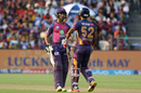 Ajinkya Rahane and Rahul Tripathi added 41 runs for the opening wicket, Rising Pune Supergiant v Kings XI Punjab, IPL 2017, Pune, May 14, 2017