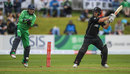 Neil Broom showed the long handle during his stay, Ireland v New Zealand, Tri-nations series, 2nd match, Malahide, May 14, 2017