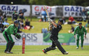 George Worker swings through the leg side, Ireland v New Zealand, Tri-nations series, 2nd match, Malahide, May 14, 2017