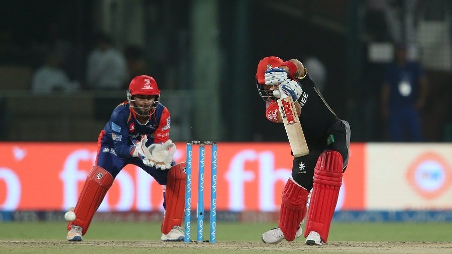 Picture perfect: Virat Kohli plays a straight drive