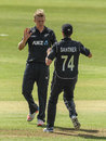Scott Kuggeleijn made early inroads on his ODI debut, Ireland v New Zealand, Tri-nations series, 2nd match, Malahide, May 14, 2017