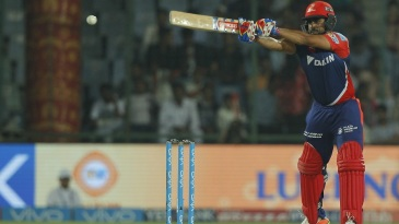 Karun Nair reaches out for the ball