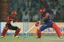 Shreyas Iyer slices one away, Delhi Daredevils v Royal Challengers Bangalore, IPL 2017, Delhi, May 14, 2017