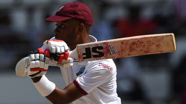 Roston Chase swivels into a pull