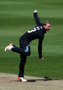 Gareth Batty bowls for Surrey, Surrey v Hampshire, Royal London Cup, Kia Oval, May 14, 2017