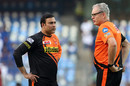 VVS Laxman and Tom Moody talk at a pratice session ahead of the match, Mumbai Indians v Sunrisers Hyderabad, IPL 2017, Mumbai, April 10, 2017