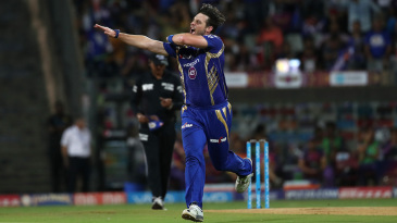 Mitchell McClenaghan bowled Rahul Tripathi in the first over