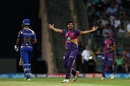 A feather touch from Shardul Thakur was enough to run Lendl Simmons out, Mumbai Indians v Rising Pune Supergiant, Qualifier 1, IPL, Mumbai, May 16, 2017