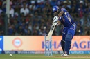 Keiron Pollard hits a crunching cover drive for four, Mumbai Indians v Rising Pune Supergiant, Qualifier 1, IPL, Mumbai, May 16, 2017