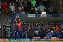 The Mumbai Indians camp looks on as Daniel Christian prepares to complete a catch, Mumbai Indians v Rising Pune Supergiant, Qualifier 1, IPL, Mumbai, May 16, 2017