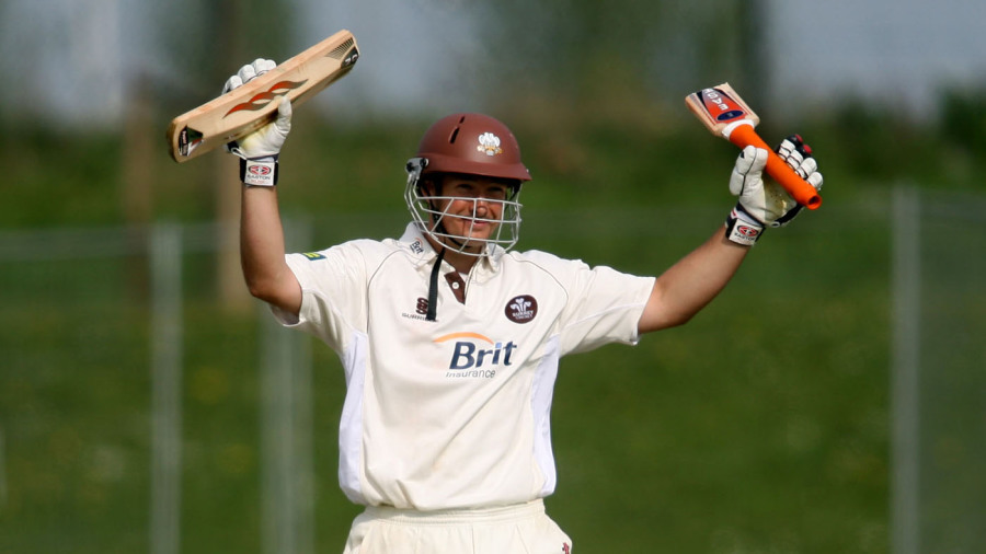 Surrey's Richard Clinton appears to need a new bat