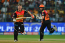 David Warner and Kane Williamson added 50 runs for the second wicket, Sunrisers Hyderabad v Kolkata Knight Riders, Eliminator, IPL, Bangalore, May 17, 2017