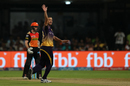 Nathan Coulter-Nile appeals for the wicket of Kane Williamson, Sunrisers Hyderabad v Kolkata Knight Riders, Eliminator, IPL 2017, Bangalore, May 17, 2017