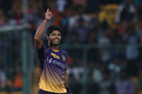 Umesh Yadav celebrates the wicket of Yuvraj Singh, Sunrisers Hyderabad v Kolkata Knight Riders, Eliminator, IPL 2017, Bangalore, May 17, 2017