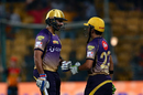 Ishank Jaggi and Gautam Gambhir strung a 36-run stand to steer Kolkata Knight riders home, Sunrisers Hyderabad v Kolkata Knight Riders, Eliminator, IPL 2017, Bangalore, May 17, 2017