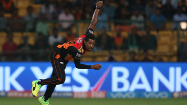 Chris Jordan took out Robin Uthappa in the second over of Kolkata Knight Riders' innings