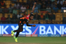 Chris Jordan took out Robin Uthappa in the second over of Kolkata Knight Riders' innings, Sunrisers Hyderabad v Kolkata Knight Riders, Eliminator, IPL 2017, Bangalore, May 17, 2017