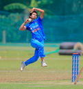 Mansi Joshi sizes up her target at the loading, India Women v Bangladesh Women, ICC Women's World Cup Qualifier, Colombo, February 17, 2017