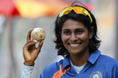 Nooshin Al Khadeer bowled Lisa Sthalekar to pick up her 100th ODI wicket, India Women v Australia Women, 3rd ODI, Mumbai, March 16, 2012