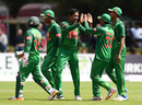 Making his international debut, Sunzamul Islam dismissed Ed Joyce for 46, Ireland v Bangladesh, Tri-nation series, Malahide, May 19, 2017