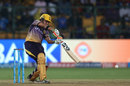Gautam Gambhir drives through the off side, Mumbai Indians v Kolkata Knight Riders, Qualifier 2, IPL 2017, Bengaluru, May 19, 2017