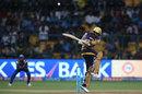 Sunil Narine mistimes a pull shot, Mumbai Indians v Kolkata Knight Riders, Qualifier 2, IPL 2017, Bengaluru, May 19, 2017