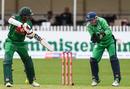 Soumya Sarkar dabs the ball past Ireland wicketkeeper Niall O'Brien, Ireland v Bangladesh, Tri-nation series, Malahide, May 19, 2017