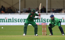 Tamim Iqbal shapes up to have a swing at the ball, Ireland v Bangladesh, Tri-nation series, Malahide, May 19, 2017