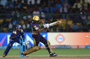 Ishank Jaggi plays a pull shot, Mumbai Indians v Kolkata Knight Riders, Qualifier 2, IPL 2017, Bengaluru, May 19, 2017