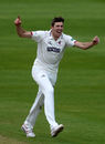 Craig Overton celebrates after removing Ian Bell, Somerset v Warwickshire, Specsavers Championship Division One, Taunton, May 19-22