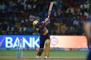 Ankit Rajpoot loses his stumps after swiping across the line to a slower yorker, Mumbai Indians v Kolkata Knight Riders, Qualifier 2, IPL 2017, Bengaluru, May 19, 2017