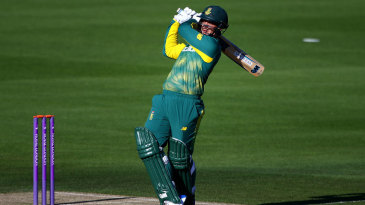 Quinton de Kock swings over the leg side