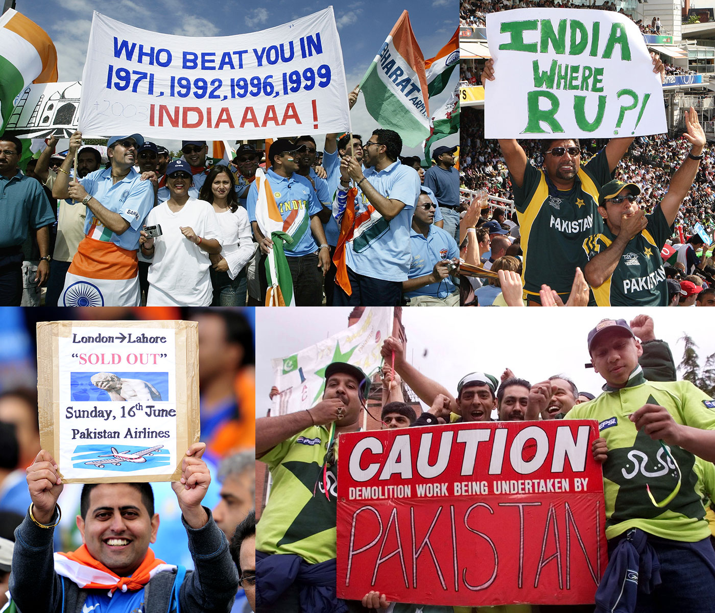 You can never have enough taunts, brags and war references at an India-Pakistan game