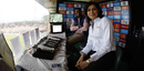 Anjum Chopra and Pommie Mbangwa share a moment in the commentary box, Kings XI Punjab v Kolkata Knight Riders, IPL 2017, Chandigarh May 9, 2017