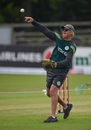 Ireland coach John Bracewell runs a fielding drill, Ireland v New Zealand, Malahide, 5th ODI, May 21, 2017