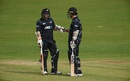 Tom Latham and Luke Ronchi added 70 for the first wicket, Ireland v New Zealand, Malahide, 5th ODI, May 21, 2017