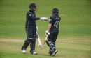 Ross Taylor and Tom Latham punch gloves, Ireland v New Zealand, Malahide, 5th ODI, May 21, 2017