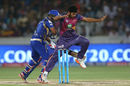 Shardul Thakur shows exemplary commitment on the field in trying for a run-out, Mumbai Indians v Rising Pune Supergiant, IPL final, Hyderabad, May 21, 2017