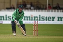 William Porterfield taps the ball to the off side, Ireland v New Zealand, Malahide, 5th ODI, May 21, 2017