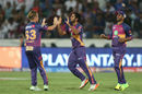 Adam Zampa sent back Rohit Sharma and Kieron Pollard in the space of five deliveries, Mumbai Indians v Rising Pune Supergiant, IPL final, Hyderabad, May 21, 2017