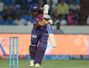 Ajinkya Rahane is all poise and composure as he essays a straight drive, Mumbai Indians v Rising Pune Supergiant, IPL final, Hyderabad, May 21, 2017