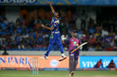 Jasprit Bumrah exults after having MS Dhoni caught behind, Mumbai Indians v Rising Pune Supergiant, IPL final, Hyderabad, May 21, 2017