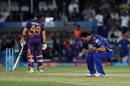 Agony and ecstasy: Steven Smith and Mitchell Johnson display contrasting emotions, Mumbai Indians v Rising Pune Supergiant, IPL final, Hyderabad, May 21, 2017
