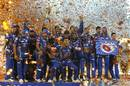 Hardik Pandya strikes a pose as Mumbai Indians celebrate their triumph, Mumbai Indians v Rising Pune Supergiant, IPL final, Hyderabad, May 21, 2017