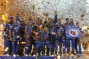 Hardik Pandya strikes a pose as Mumbai Indians celebrate their triumph, Mumbai Indians v Rising Pune Supergiant, IPL final, Hyderabad, May 21, 2017