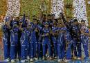 Mumbai Indians are all smiles after lifting the trophy, Mumbai Indians v Rising Pune Supergiant, IPL final, Hyderabad, May 21, 2017