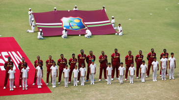 West Indies players sing their cricket anthem